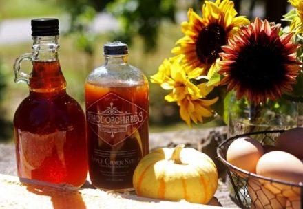 bottles and pumpkin