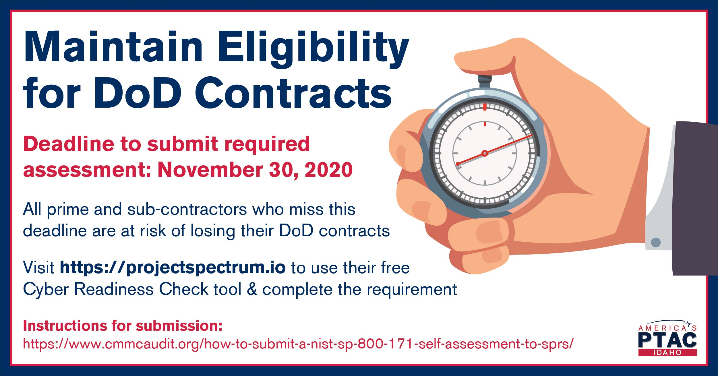 Maintain Eligibility for DoD contracts