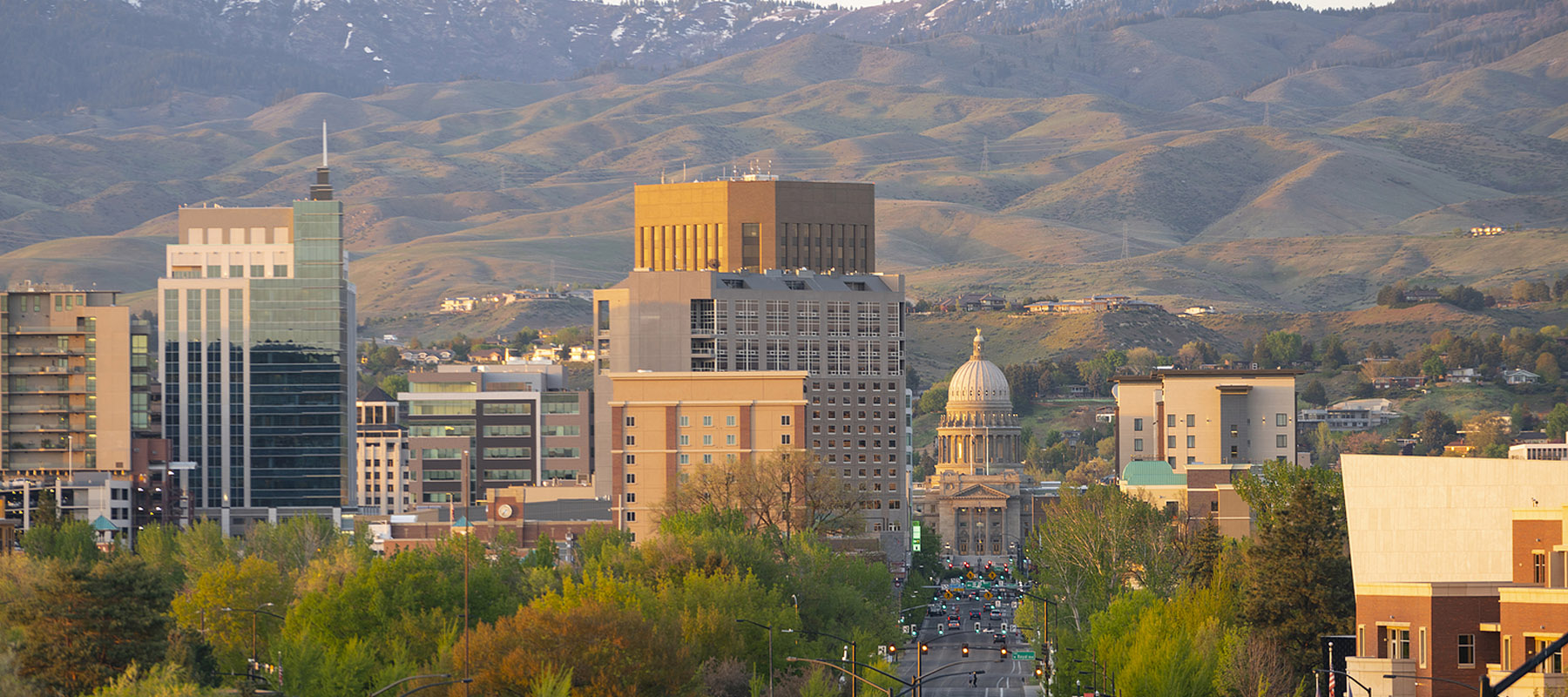 Cityscape view of downtown Boise Idaho
